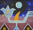 Климушкин Н.В. Птица-цветок. 2001. ДВП, акрил. 61х67. Ж-682, КП-8667_1