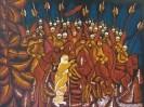 Г-568 КП-922 Магомедов М.Г.  Иван Сусанин. 1979. Бумага, цветная линогравюра. 45х60