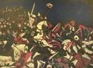 Г-567 КП-921 Магомедов М.Г.  Ледовое побоище. 1977. Бумага, цветная линогравюра. 45х60