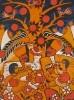 Г-573 КП-927 Магомедов М.Г.  За мир, за счастье, за детей! 1979. Бумага, цветная линогравюра. 60х45