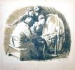 Г-356 КП-710 Кибрик Е. А.  Рождение Тиля. Из серии Легенда о Тиле Уленшпигеле. 1937. Бумага, автолитография. 14х16