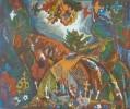 Молчанова Г.П. Красный курган.1980. Бумага, цветная линогравюра. 39х47. КП-1024, Г-670