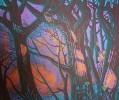 Г-472 КП-826 Григорьев В. Б.  Охота. Из серии В гостях у деда-егеря. Бумага, цветная линогравюра. 57,3х68,5