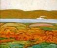 Шеин Н.Ф.  Белый пароход.1975.Хослт,масло.735х86,5.Ж-219 КП-561_1