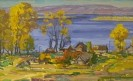 Бузин В.А. Бахилова поляна.1991.Картон,масло.44х30.Ж-430 КП-7988_1