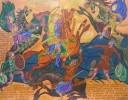 Шитиков Е.П. Пленение князя Игоря. 1986. Бумага, офорт, акварель. 50х64. КП-1104, Г-751