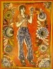 Максимов А.Д. Художница из Городца Наташа Кузьмичева. 1983. Бумага, цветная гравюра на дереве. 80,5х62,5. КП-935, Г-581