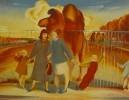 Лусегенов О.М. Разговор. 1983. Бумага, цветная автолитография. 40х52. КП-919, Г-565