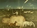 Г-475 КП-829 Данилов А. В.  Композиция № 3. Из серии Мир детства. 1980. Бумага, цветная литография. 48,5х63,5