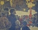 Г-142 КП-293 Воробьева И. Н.  Кашинские звездочки. 1969. Бумага, цветная гравюра на картоне. 49,5х61,6