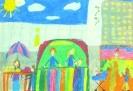 Ванда Люккардт, 10 лет.  Ярмарка. Бумага, масляная пастель. 30х42,7. Г-4124, КП-5593