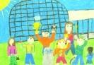 Елена Отто, 11 лет. В планетарии. 2001. Бумага, масляная пастель. Г-4122, КП-5591