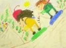 Гримальди Луиджи, 9 лет. Мы катаемся на скейтборде. 2001. Бумага, акварель, масляная пастель. 30х40. Г-4106, КП-5575